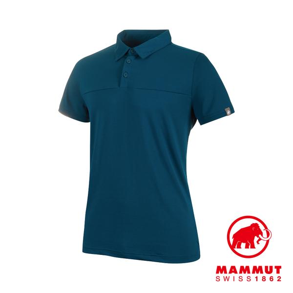Mammut 長毛象 Trovat Tour Polo Men 短袖排汗快乾POLO衫 波賽頓藍 男款 #1017-00031
