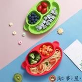 寶寶硅膠餐盤吸盤碗嬰兒分格兒童餐具吃飯碗輔食碗【淘夢屋】