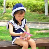 【雙十二】預熱2018新款女孩寶寶女童泳衣兒童公主小童嬰幼兒海軍風連體游泳衣     巴黎街頭