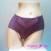Chasney Beauty-Twist麻辮S蕾絲高腰包褲(深紫芋)