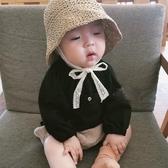 ins爆款夏款兒童草帽韓國寶寶遮陽帽防曬帽沙灘蕾絲漁夫帽子親子 童趣屋