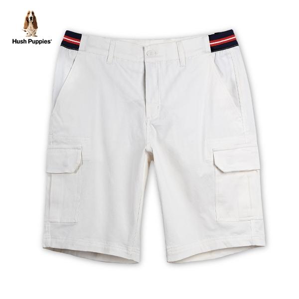 Hush Puppies 短褲 男裝腰邊雙色織帶拼接貼袋休閒短褲
