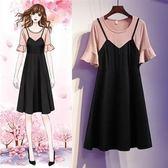特賣款不退換中大尺碼XL-5XL洋裝連身裙33530裝新款大碼女裝微胖mm時尚連衣裙