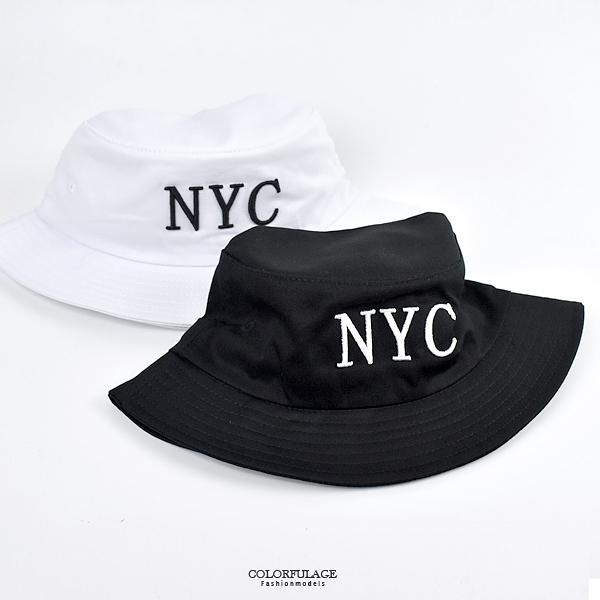 漁夫帽 電鏽N.Y.C素色素面NHD15