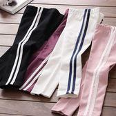*╮S13小衣衫╭*中小童運動風簡潔側邊條百搭長褲1070904