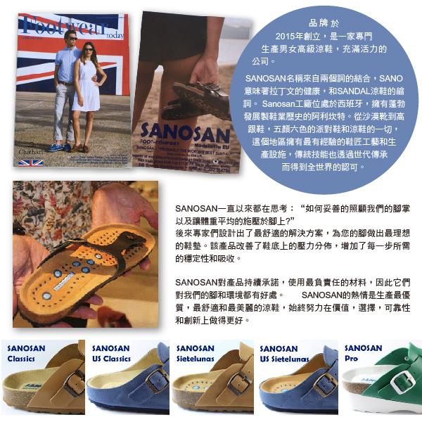【Sanosan】sietelunas磁氣休閒人字涼拖鞋/女鞋 藍色(8801-TUR)