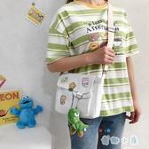 帆布包包女日系大容量韓版可愛少女斜挎包側背包【奇趣小屋】