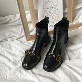 女士皮靴 歐美原宿切爾西街拍漆皮方頭騎士