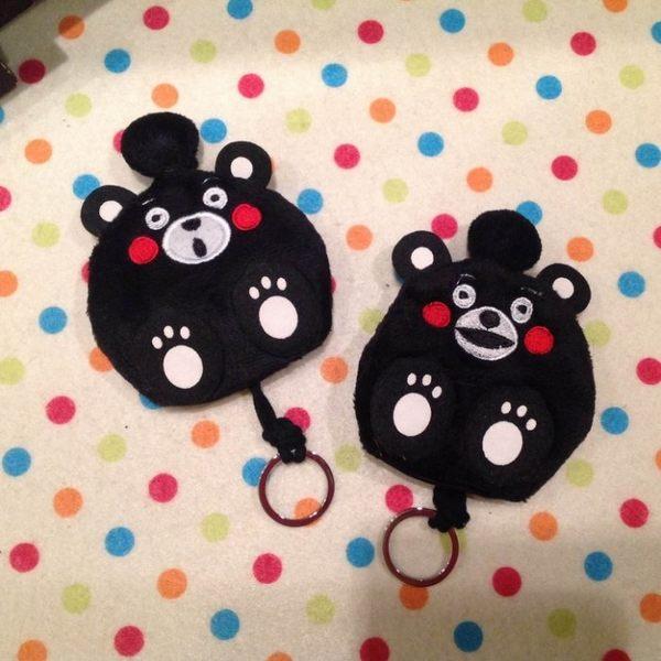 【發現。好貨】 超人氣 熊本熊 KUMAMON 萌熊 黑熊 熊本縣 毛絨鑰匙包 鑰匙收納套 零錢包