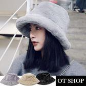 [現貨] 羊絨漁夫帽 盆帽 寬帽檐 素色 保暖配件 文青復古 冬季預韓 台灣出貨 C2053