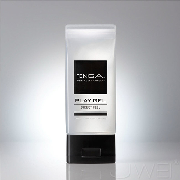 情趣用品-日本TENGA.PLAY GEL-DIRECT FEEL 鮮明觸感型潤滑液(黑)150ml