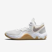 Nike Renew Elevate Ii [CW3406-100] 男鞋 籃球鞋 避震 支撐 輕量 包覆 穿搭 白 灰