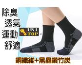 銅纖維竹炭健走慢跑健康運動襪 單雙入 除臭 透氣 排汗男女可穿 父親節情人節禮物禮品