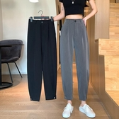 寬鬆哈倫褲夏季2020新款褲子高腰休閒褲女西裝褲顯瘦百搭九分褲潮 雙11提前購