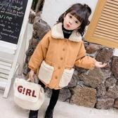女童秋冬款棉服外套 2019新款洋氣加絨加厚女棉衣兒童夾棉童裝 YN2230『寶貝兒童裝』