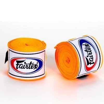 『VENUM旗艦館』Fairtex 泰拳 拳擊手綁帶 BOXING Hand Wraps 手綁帶3M  微彈性 - 橘色