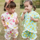 短袖套裝 蕾絲 造型和服 上衣 短褲 女寶寶 2件套 80073