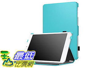 [美國直購] 保護套 MoKo iPad Mini 4 Case Slim-Fit Multi-angle Folio Cover Case 7.9 inch iOS Tablet Light BLUE 5015961