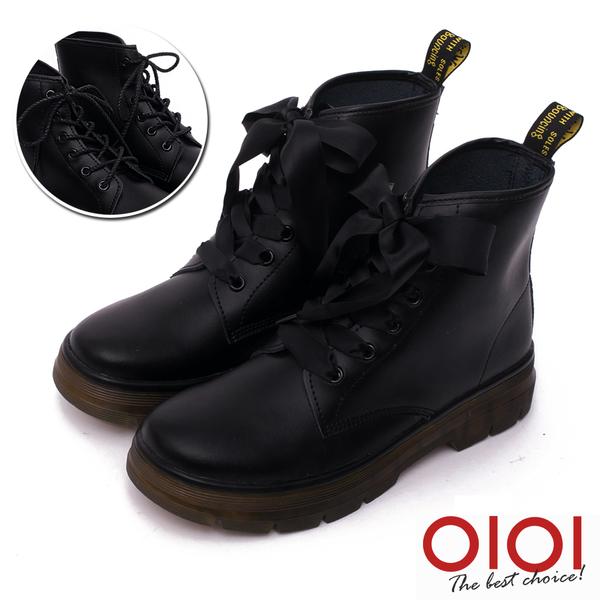 馬汀靴 時尚寵兒真皮緞帶2way馬汀靴(黑) * 0101shoes  【18-888bk】【現+預】