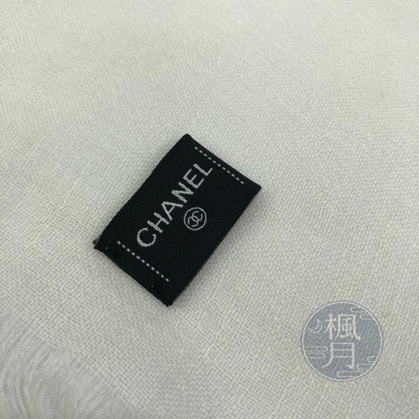 BRAND楓月 CHANEL 香奈兒 LOGO字樣彩色絲巾 100%喀什米爾羊毛 圍巾 披肩 飾品 飾物 服飾 配件