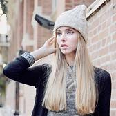 羊毛帽-韓版保暖親膚瘦臉男女針織帽7色73id44【時尚巴黎】