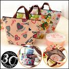 保溫午餐袋 便當袋 保溫 保冰 雙層 收納 多色 樣式 款式 點點 愛心 手提袋 包包 甘仔店3C配件