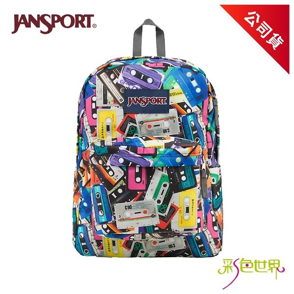 JANSPORT後背包校園背包 卡帶年代 JS-43501-09N 彩色世界