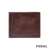 FOSSIL Ingram 咖啡色真皮RFID短夾 ML3784200