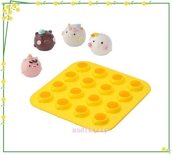 asdfkitty☆貝印小豬小雞貓咪小熊16格矽膠模型DL-6372-做巧克力.冰塊.果凍.手工皂日本正版
