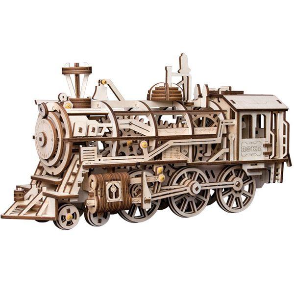 DIY木製自走模型-火車頭Locomotive 蒸汽火車頭