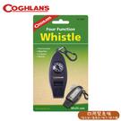 【COGHLANS 加拿大 Four Function Whistle 四用緊急哨/指北針/溫度計/哨子/放大鏡】0044