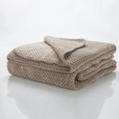 小毛毯夏季薄款空調辦公室午睡單人雙人純棉毛巾被加厚珊瑚絨毯子YYJ 易家樂