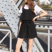 黑五好物節 胖mm洋氣套裝加肥加大碼寬鬆顯瘦吊帶連衣短褲兩件套吊帶褲200斤 東京衣櫃