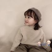 童帽 秋冬季兒童貝雷帽女寶寶復古公主帽子南瓜帽小女孩百搭禮帽 3色