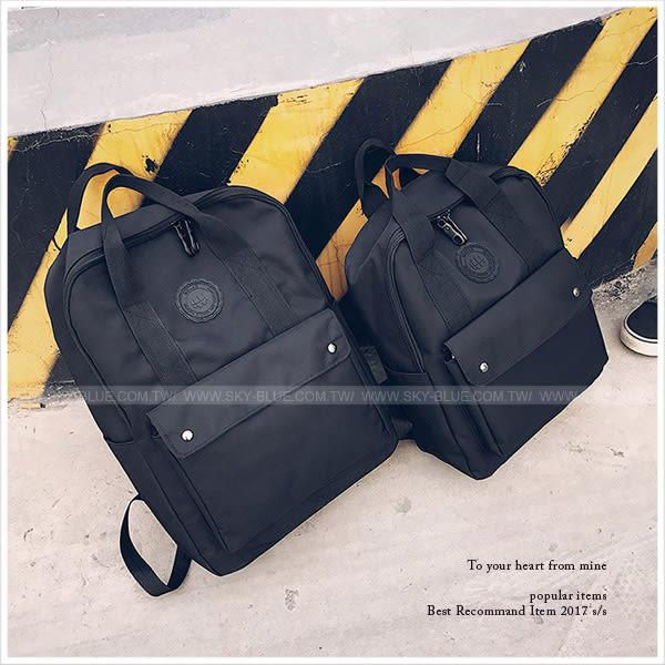 後背包-極簡中性休閒後背包(大)-單1款-A12121315-天藍小舖