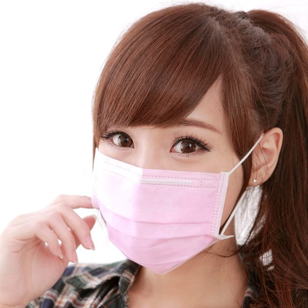 【雨晴牌-抗UV三層不織布口罩】(成人-粉紅色) 檢驗抗UV達74% 舒適透氣 新素材耳帶久戴不痛