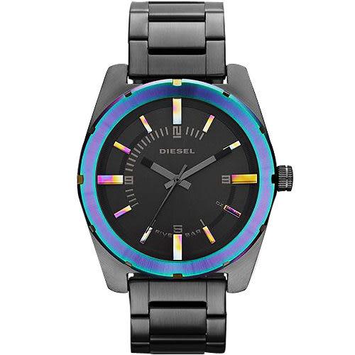 DIESEL Analog 戰慄潮牌腕錶/手錶-IP黑 DZ5347
