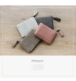 皮夾-法國盒子.氣質編織流蘇多功能短夾(共四色)6096
