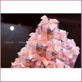 幸福朵朵【甜蜜蜜「透明盒裝」瑞士進口hero蜂蜜小禮盒 x 30盒 (粉色緞帶)-送客小禮婚禮小物