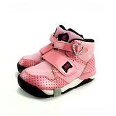日本月星MOONSTAR 魔鬼氈高筒機能學步鞋 《7+1童鞋》A452粉色