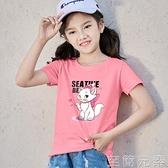 年夏季女童中大童純棉短袖夏裝t恤韓版潮寬松打底衫時尚洋氣 至簡元素