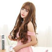 韓式長假髮假髮女長捲髮大波浪淑女甜美空氣瀏海逼真大頭皮假髮套造型