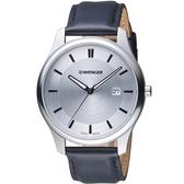 瑞士WENGER City 城市系列 經典簡約紳士腕錶 01.1441.102