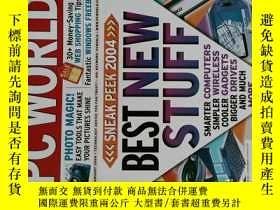 二手書博民逛書店PC罕見WORLD Magazine 2004年1月 英文個人電腦雜誌 可用樣板間道具雜誌Y14610