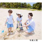 親子裝海邊度假雪紡裙海灘褲