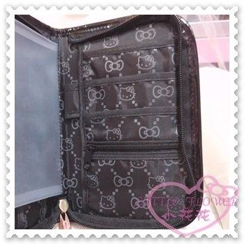 ♥小花花日本精品♥Hello Kitty 卡片收納夾證件夾信用卡夾亮皮大臉造型立體蝴蝶結58842706