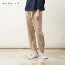 a la sha+a 帥氣壓線打摺縮口褲