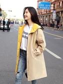 風衣女中長款韓版春秋新款小個子外套學生寬鬆氣質流行薄大衣  夏季上新