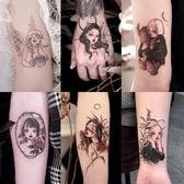 紋身貼暗黑系美少女戰士ins風卡通防水女持久可愛永久1年性感32張 快速出貨