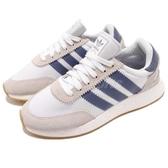 adidas 休閒鞋 I-5923 W 白 藍 BOOST 中底 麂皮 復古外型 女鞋 慢跑鞋 運動鞋【PUMP306】 D97351